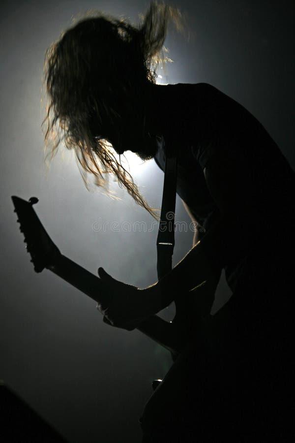 Guitarrista na ação 4 foto de stock