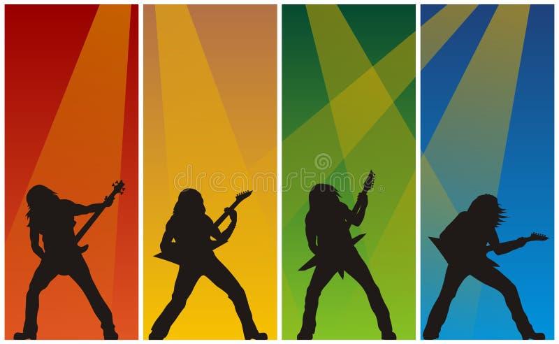 Guitarristas do metal pesado ilustração stock