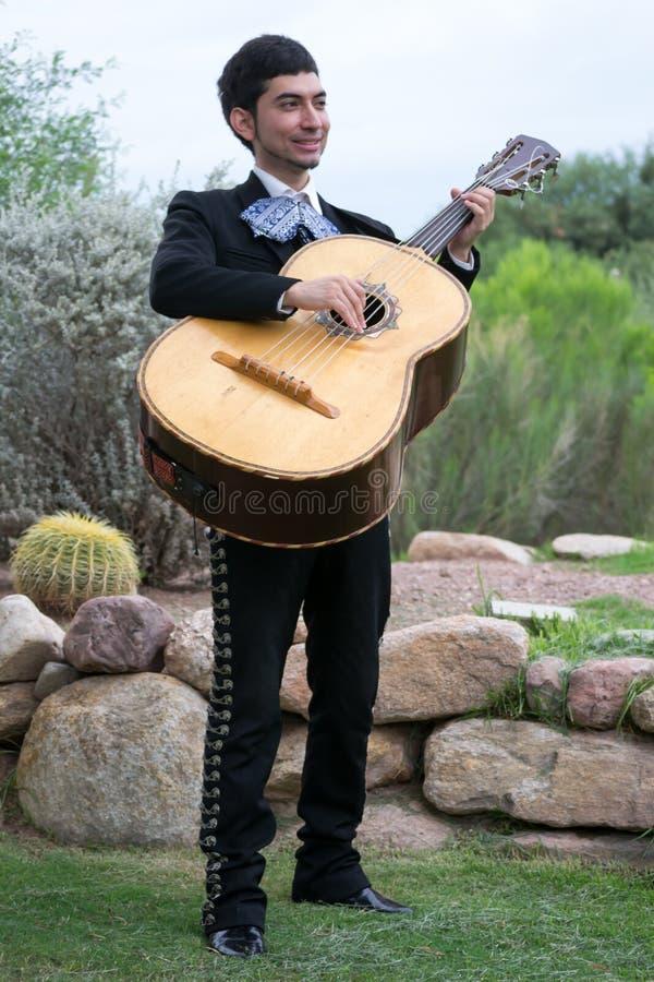 Guitarron Player royalty free stock photo