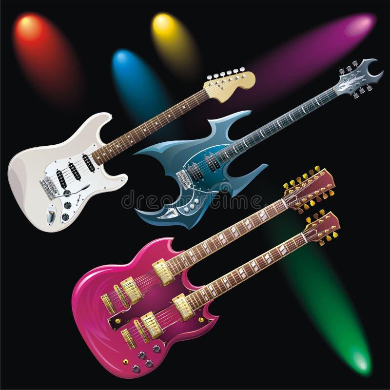 Download Guitars stock vector. Illustration of heavy, jazz, hard - 18021791