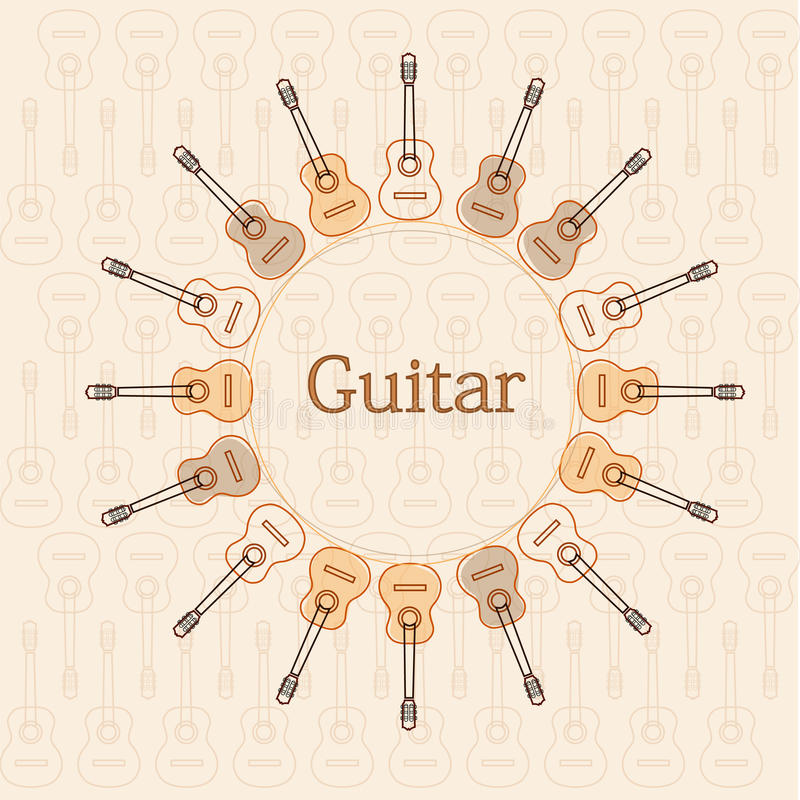 guitars illustrazione di stock