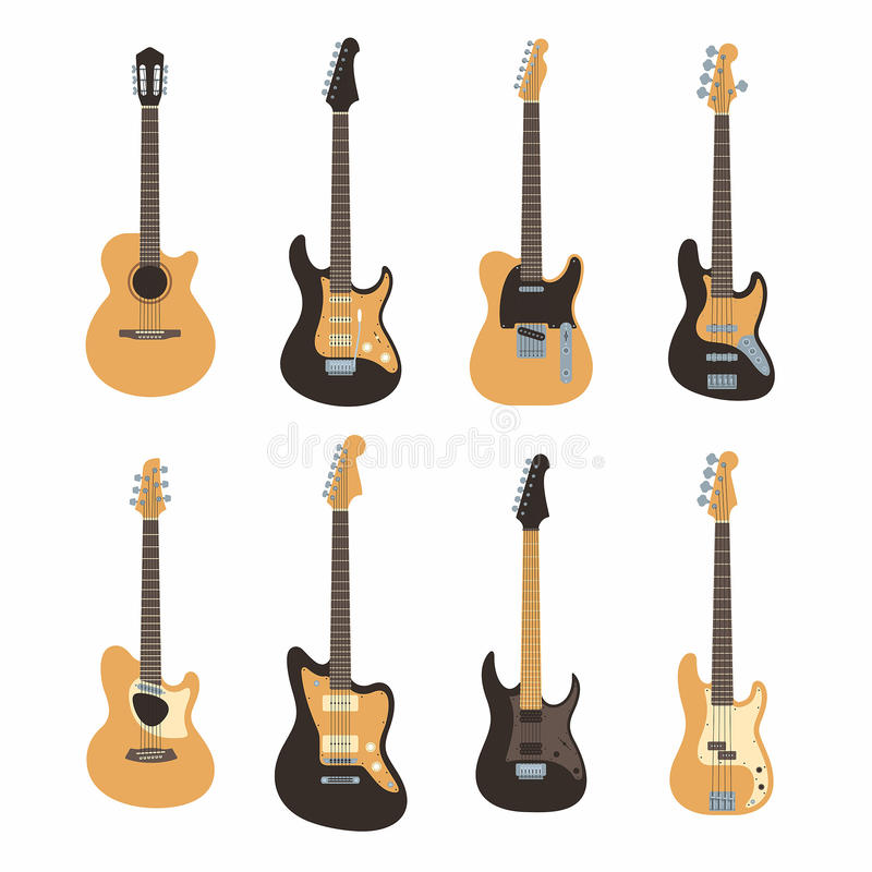 guitars illustrazione vettoriale