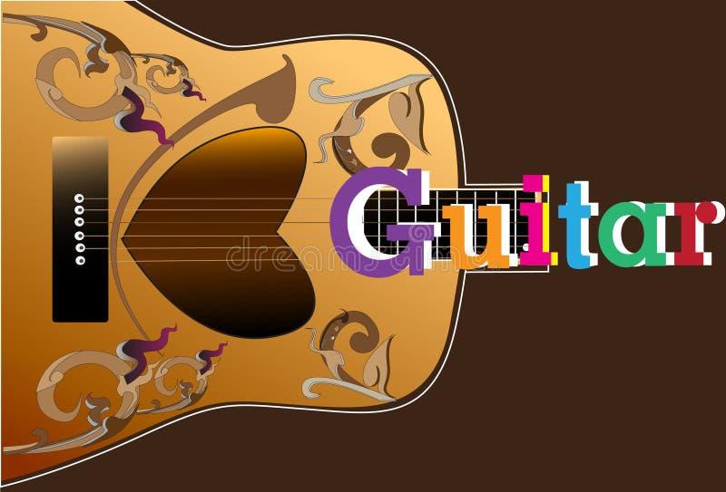 Line Color Form : Guitars art stock illustration. illustration of brown 48419094