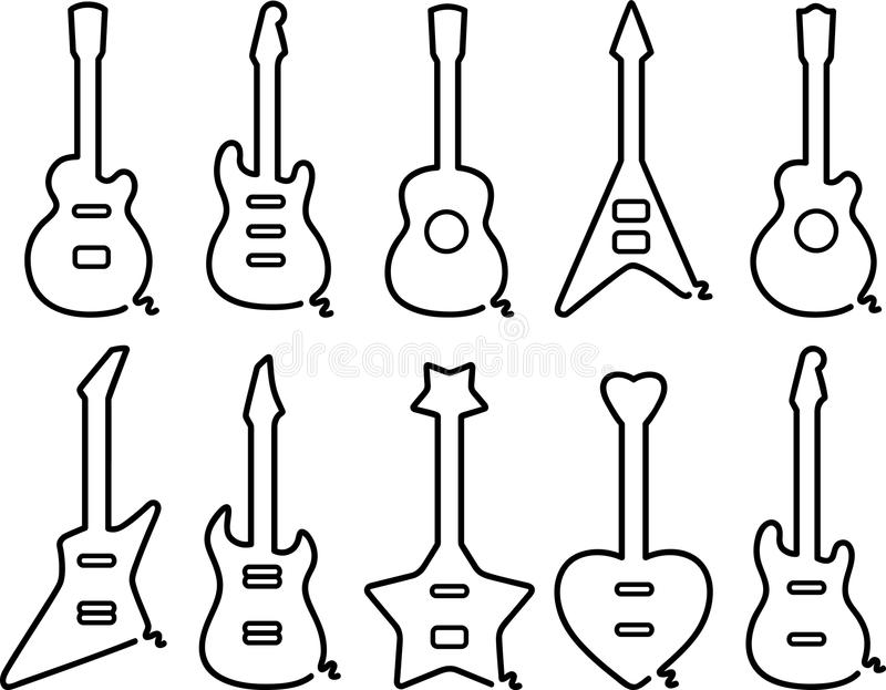 Guitars Set Royalty Free Stock Photography