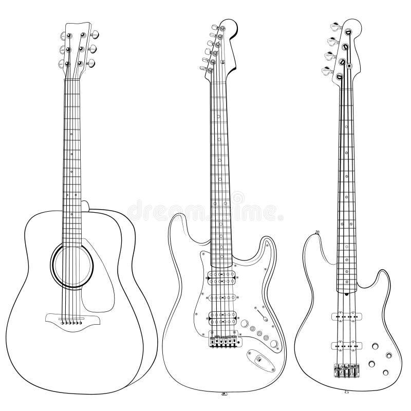 Guitars stock photo