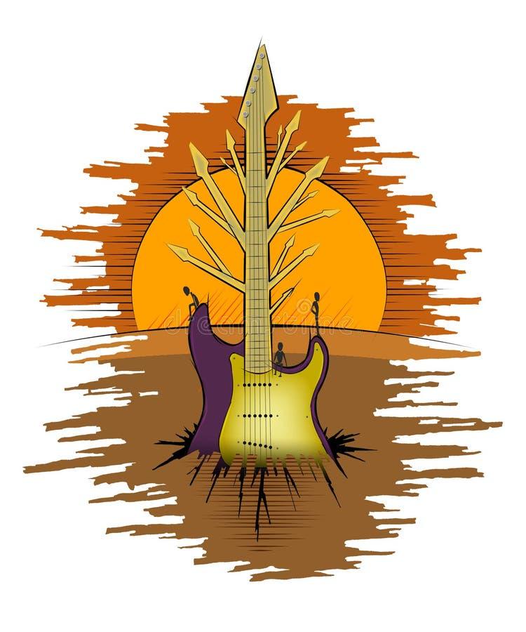 guitarthree иллюстрация штока