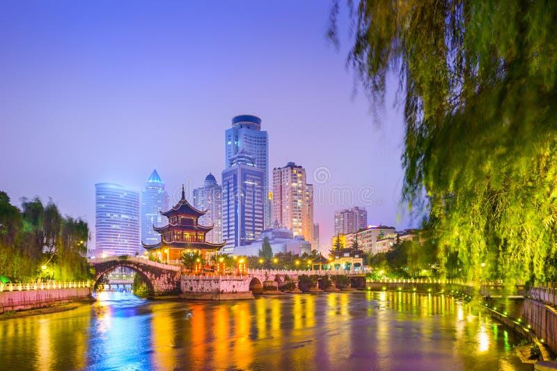 Guiyang, городской пейзаж Китая стоковые фотографии rf