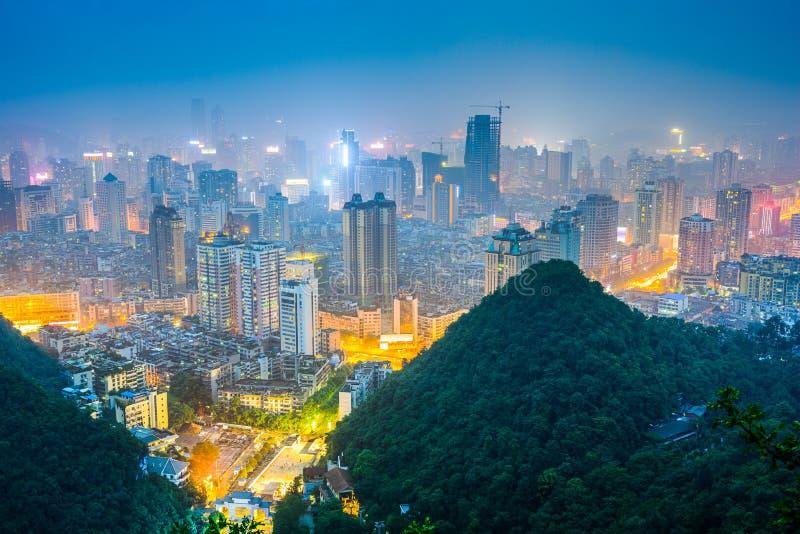 Guiyang, arquitetura da cidade de China imagens de stock