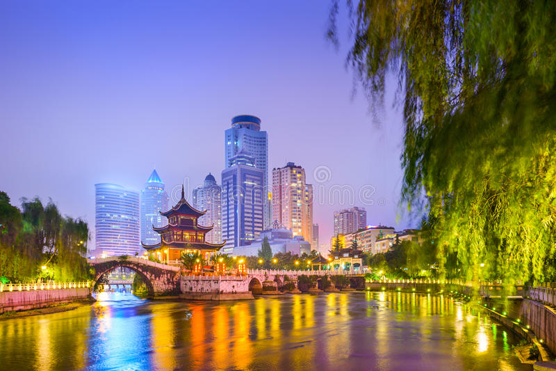 Guiyang Kina Cityscape royaltyfria foton