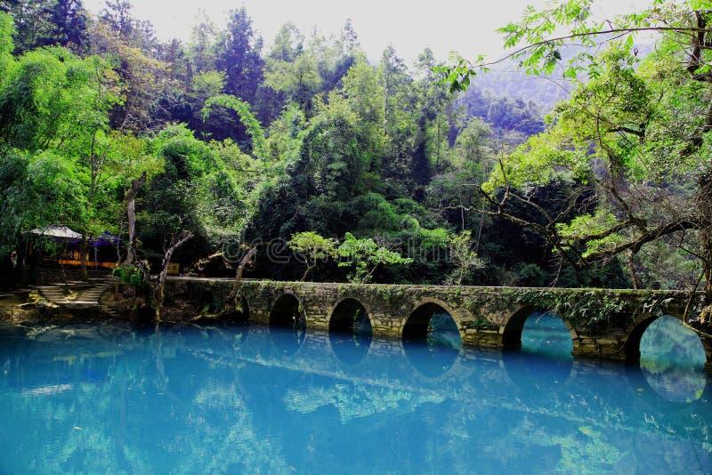 Guizhou Libo xiaoqikong Scenic Area royalty free stock photos