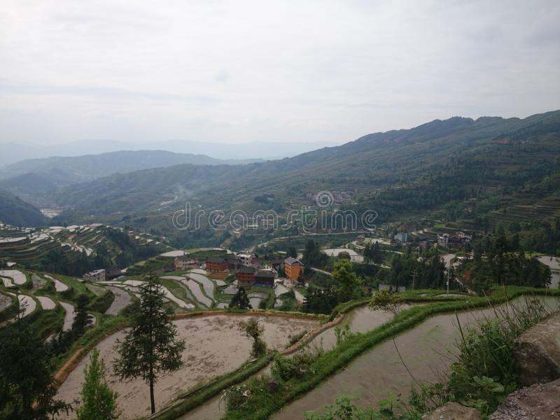 Guizhou-Terrasse stockfoto