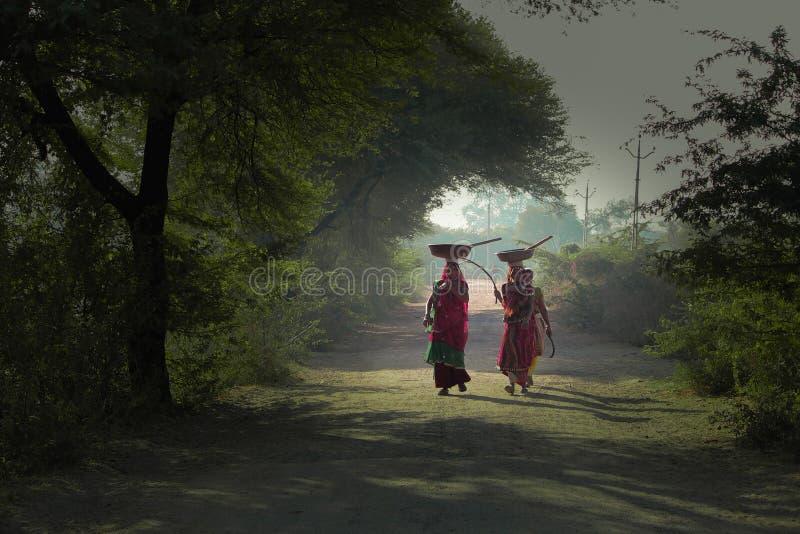 Gujarat bykvinnor arkivbilder