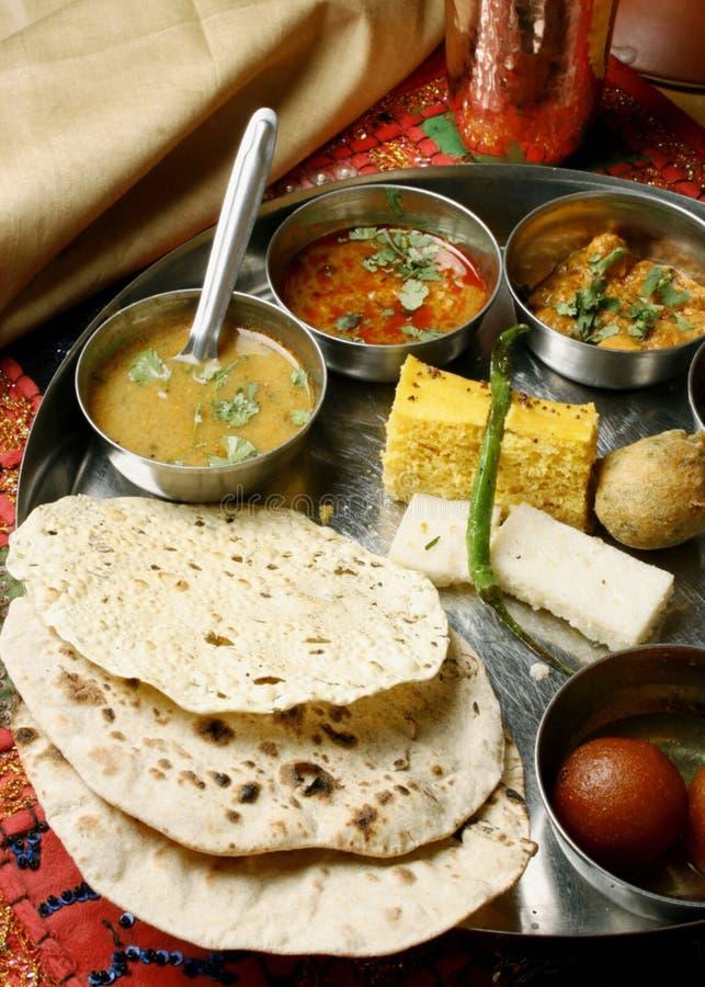 Gujarati Thali στοκ φωτογραφία με δικαίωμα ελεύθερης χρήσης