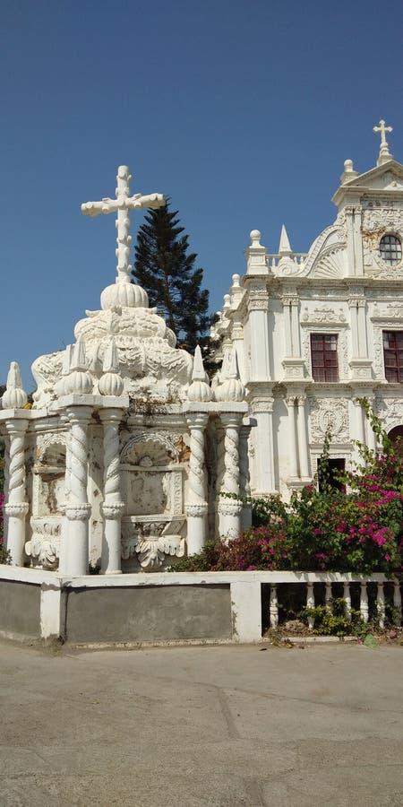 Gujrat india da igreja de Diu foto de stock royalty free