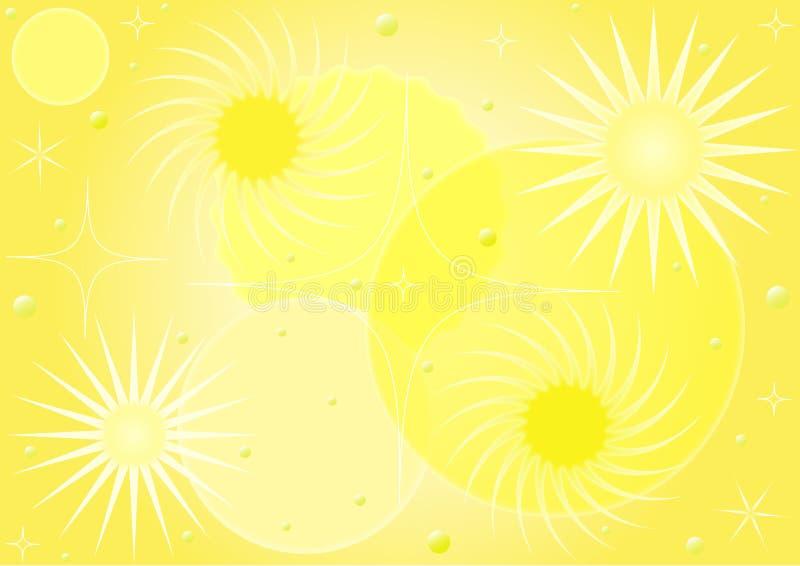 Gul abstrakt mönstrad bakgrund vektor illustrationer