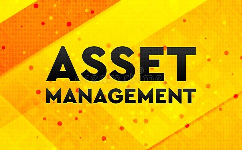 Gul bakgrund Asset Management för abstrakt digitalt baner stock illustrationer
