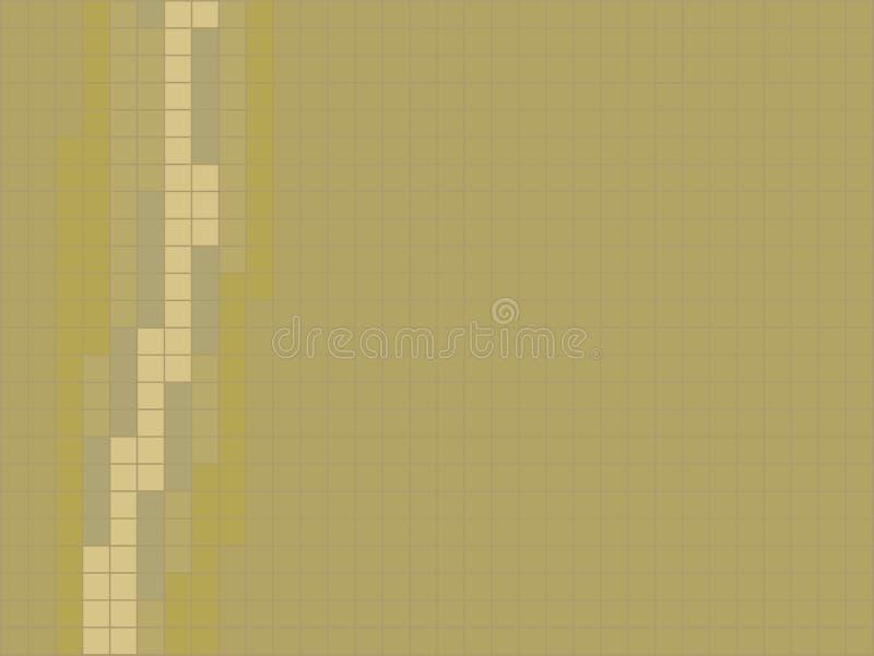 Gul bakgrund av brytningen för senapsgula färger för tegelplattor den vertikala lämnade ljus - gulingtegelplattor den keramiska m vektor illustrationer