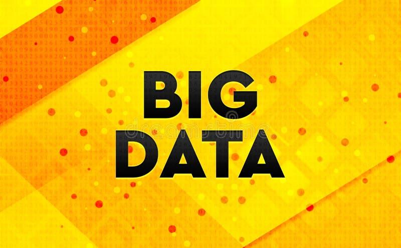 Gul bakgrund Big Data för abstrakt digitalt baner vektor illustrationer