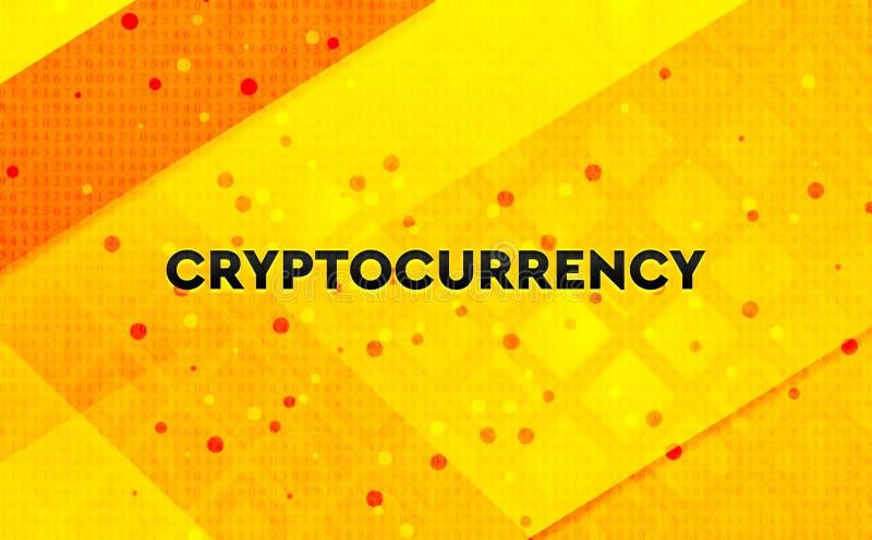 Gul bakgrund Cryptocurrency för abstrakt digitalt baner vektor illustrationer