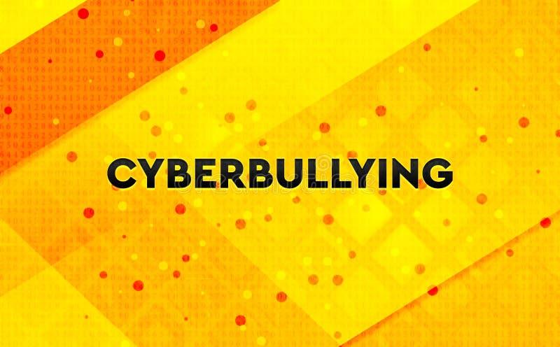 Gul bakgrund Cyberbullying för abstrakt digitalt baner stock illustrationer