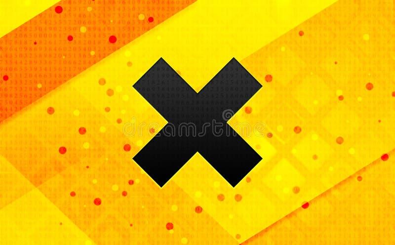 Gul bakgrund för argt baner för symbol abstrakt digitalt vektor illustrationer