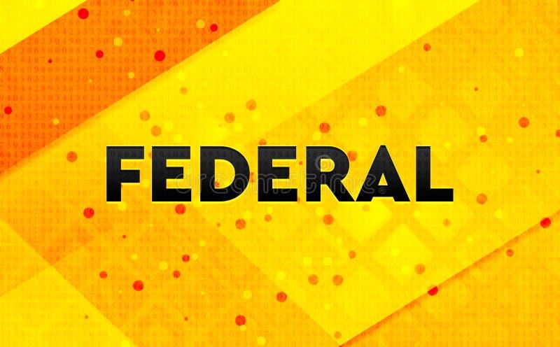 Gul bakgrund för federalt abstrakt digitalt baner stock illustrationer