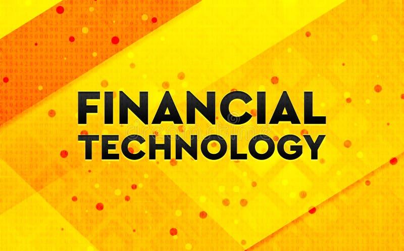 Gul bakgrund för finansiellt baner för teknologi abstrakt digitalt stock illustrationer