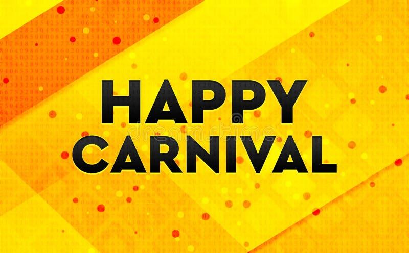Gul bakgrund för lyckligt baner för karneval abstrakt digitalt stock illustrationer
