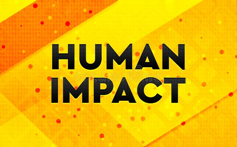 Gul bakgrund för mänskligt baner för inverkan abstrakt digitalt vektor illustrationer