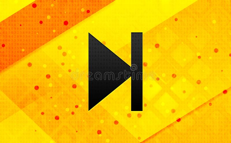 Gul bakgrund för nästa baner för spårsymbol abstrakt digitalt vektor illustrationer