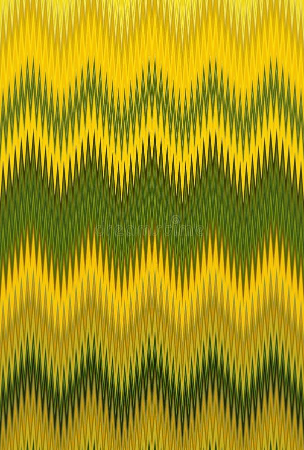 Gul bakgrund för sparresicksackmodell guld- illustration vektor illustrationer