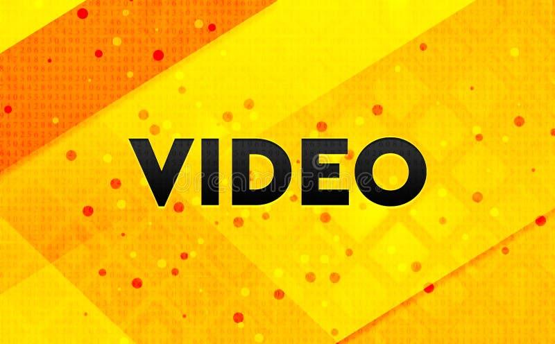 Gul bakgrund för videopn abstrakt digitalt baner stock illustrationer