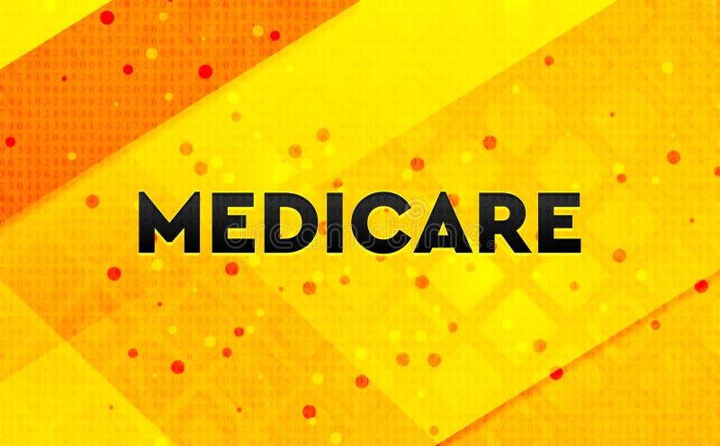 Gul bakgrund Medicare för abstrakt digitalt baner stock illustrationer