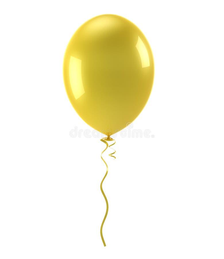 Gul ballong vektor illustrationer
