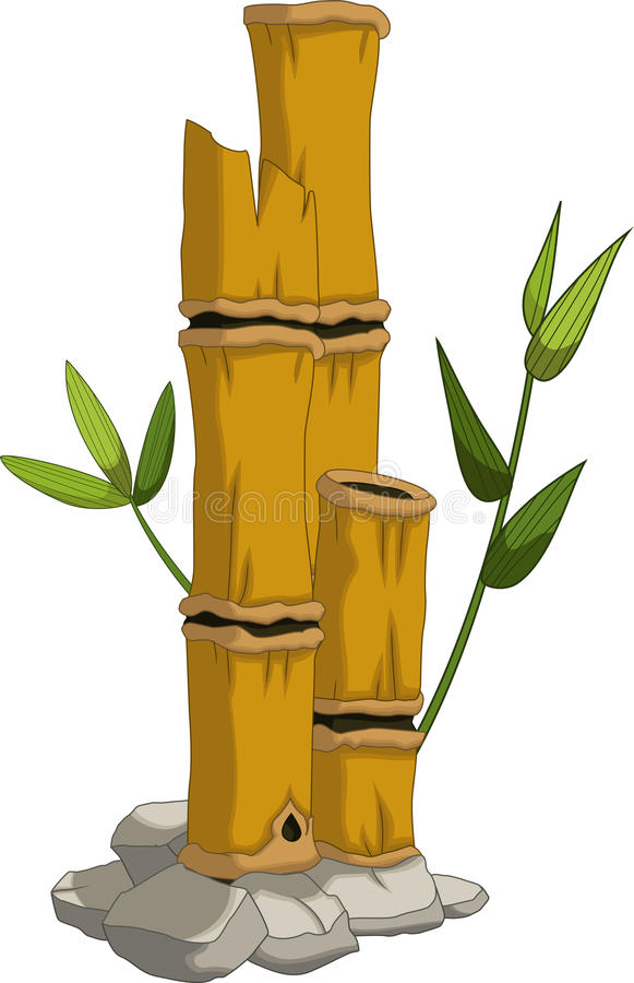 Gul bambu för dig design royaltyfri illustrationer