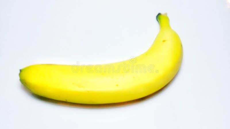 Gul bananfrukt zoomade studiofotoforsen arkivbilder