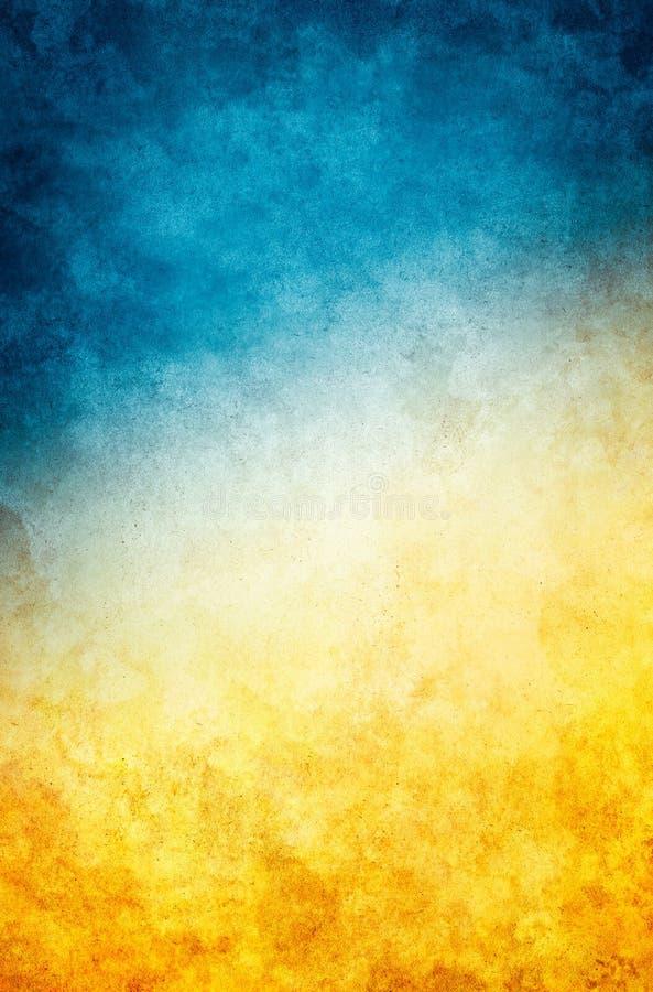 Gul blå Grunge royaltyfria bilder