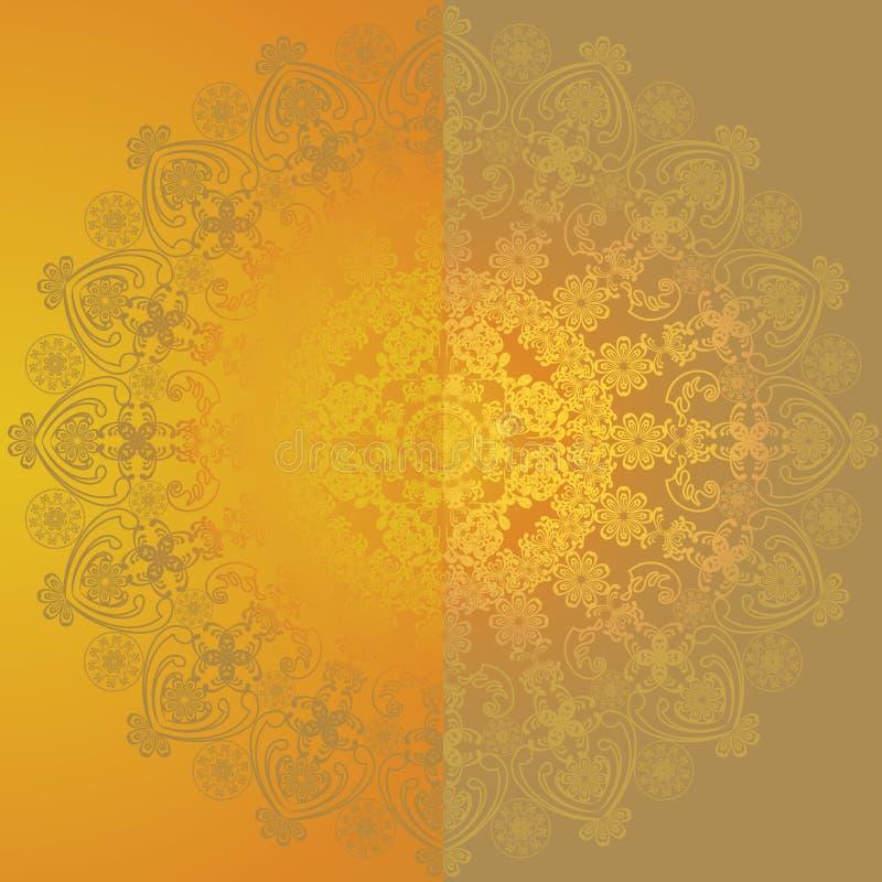 Gul blom- design royaltyfri illustrationer