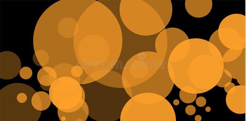 Gul bokeh Abstrakta begreppet av bakgrund för cirkelljusbokeh guld- lampor för bakgrund Begrepp för julljus vektor stock illustrationer