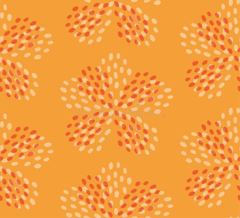 Gul brun s?ml?s modell f?r sommarblomma vektor illustrationer