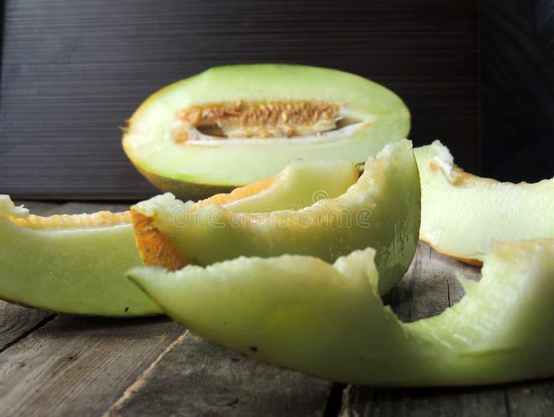 Gul cantaloupmelon arkivbild