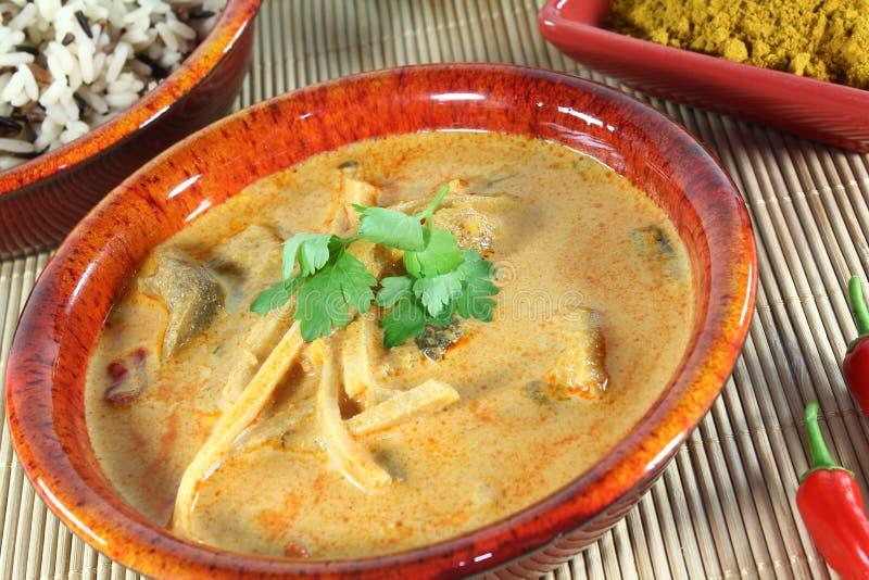 Gul curry arkivfoton