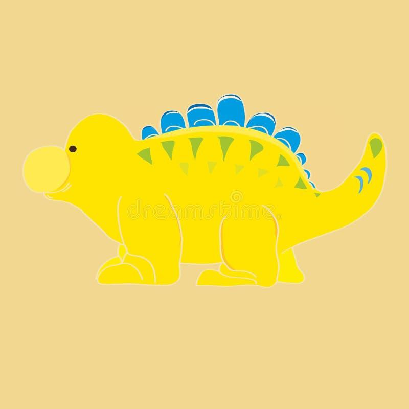 Gul dinosaurie vektor illustrationer