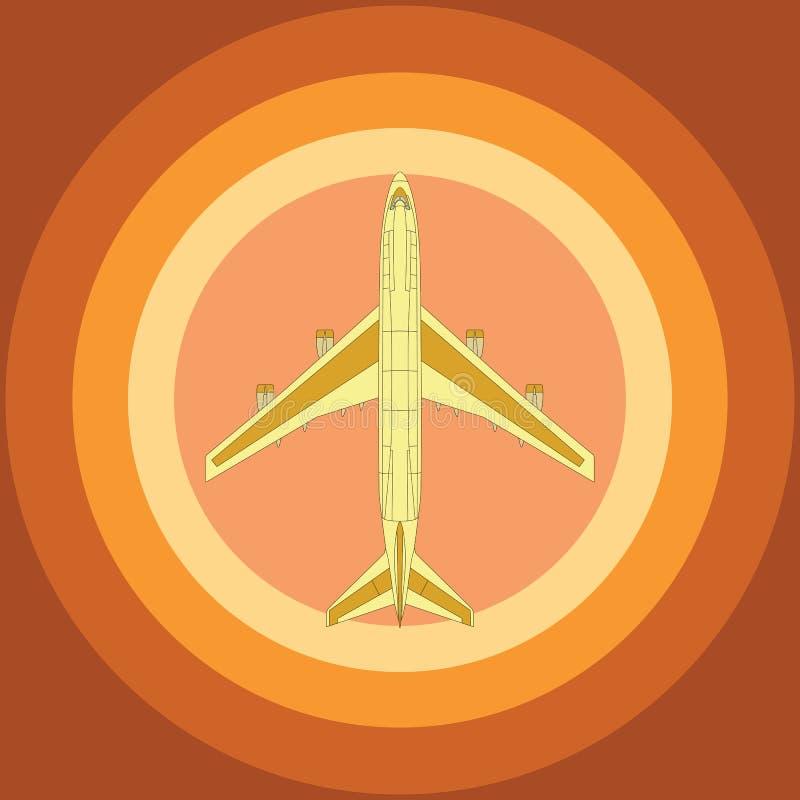Gul flygplanöverkant royaltyfri foto