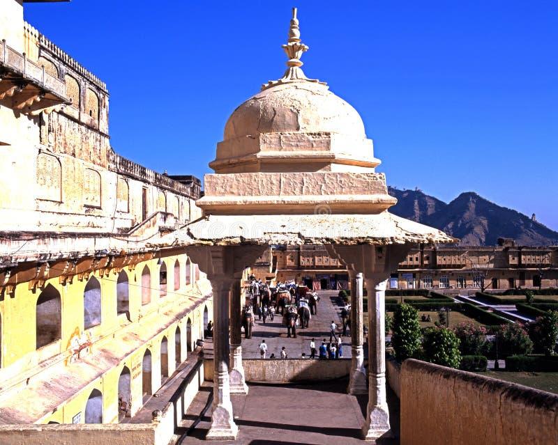 gul fort india fotografering för bildbyråer