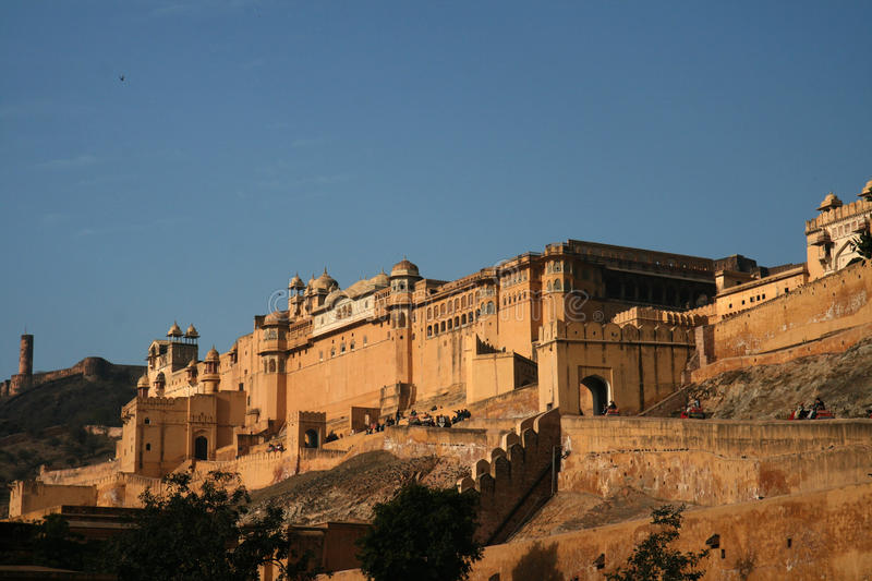 gul fort india jaipur arkivfoto