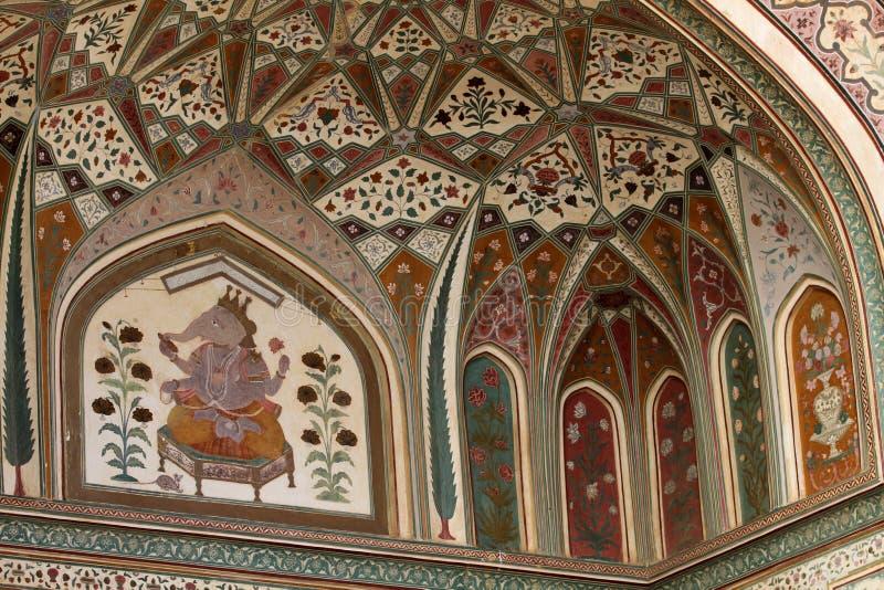 gul fort india jaipur royaltyfri foto