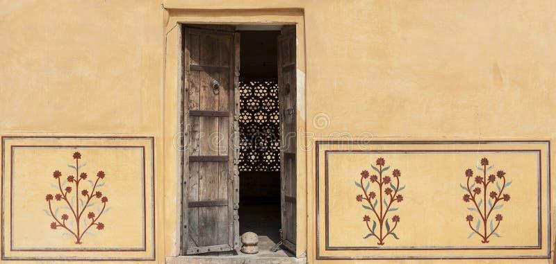 gul fort india jaipur fotografering för bildbyråer