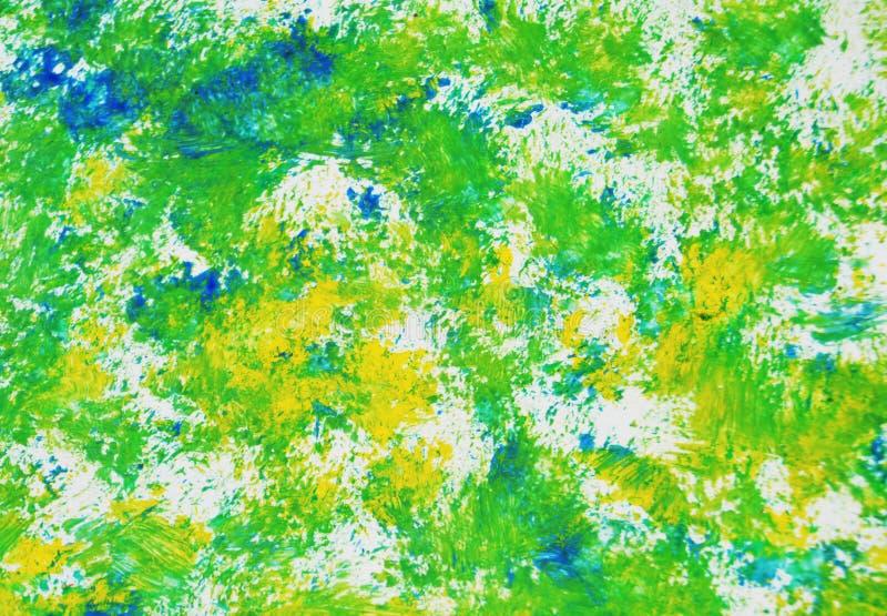 Gul grön blå målarfärgvattenfärgtextur, bakgrund, abstrakt textur och modell fotografering för bildbyråer