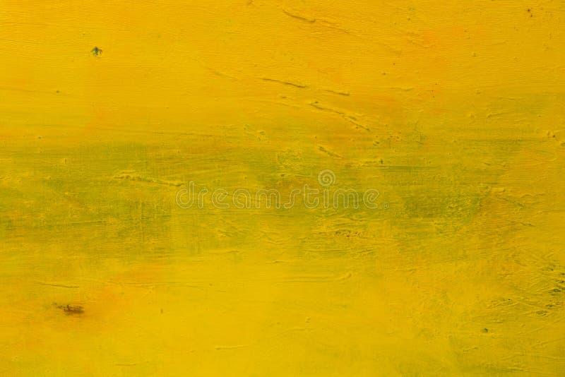 Gul grungevattenfärgbakgrund Högt upplösningsfoto royaltyfri foto